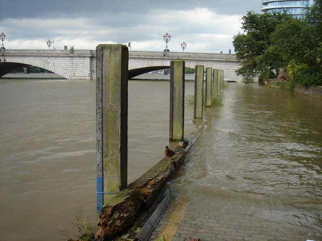 High Tide at Putney Bridge