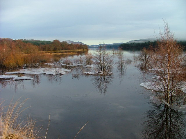 Ice on Loch Laggan