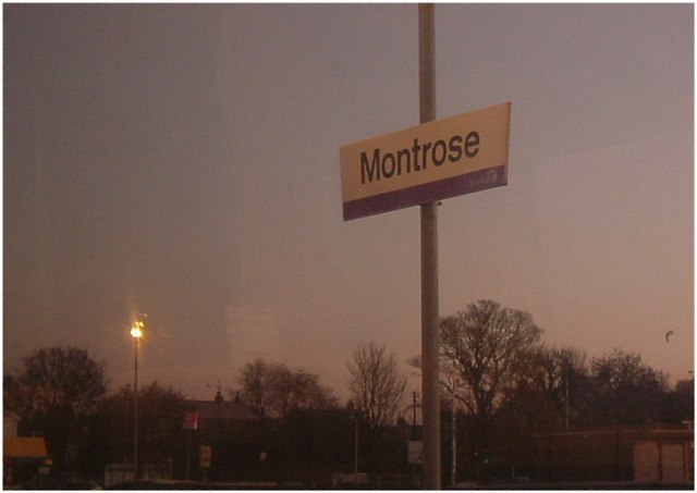 Daybreak on Montrose railway station.