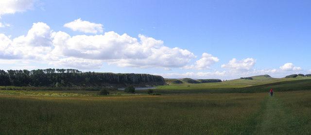Hadrian's wall ridge from Hotbank farm