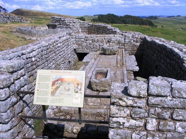 Housestead fort, the latrines