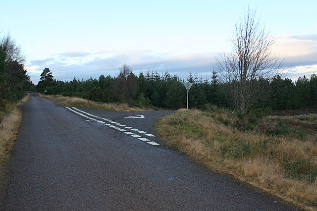 The Redburn junction on the Military road.