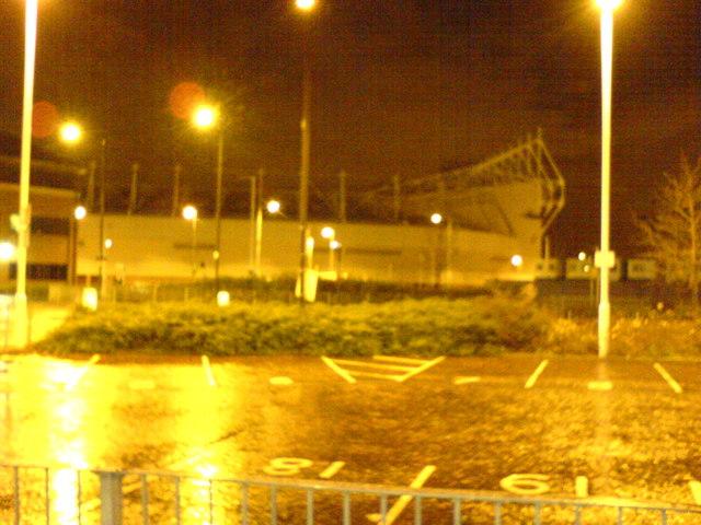 Sunderland Stadium of Light at night