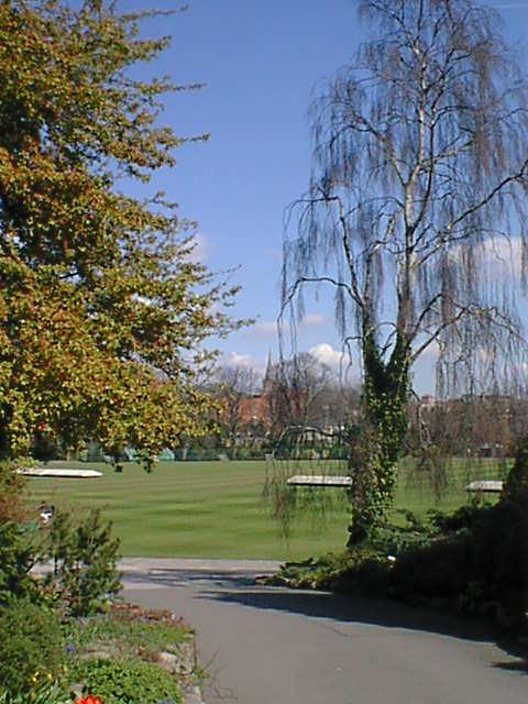 Queens Park Cricket Ground from Park Road Entrance