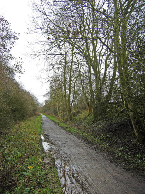 Old Railway Trackbed near Great Oxendon