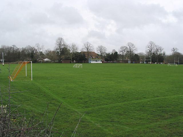 Playing Fields at Stanbridge Earls School, nr Romsey