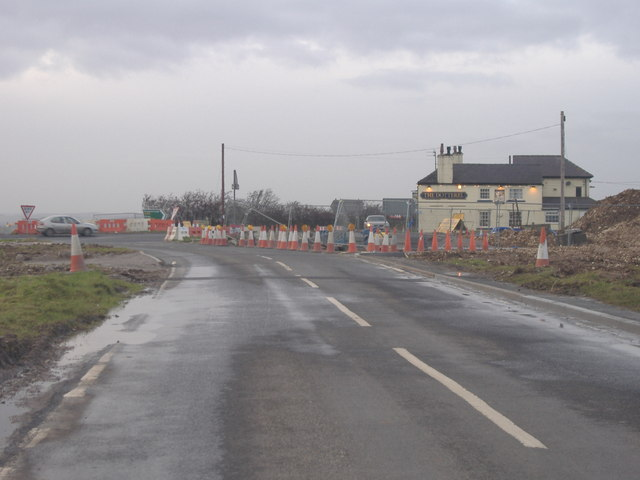 Roadworks at Reighton
