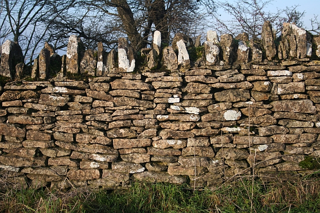 Cotswold Stone Wall, Bredon Hill