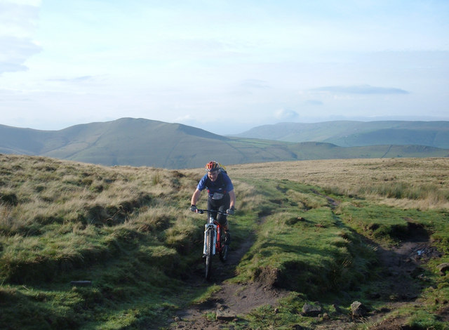 Moorland bridleway below Kinder Low End