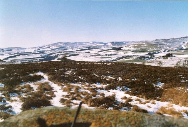 Wirren Hills from Trig. Point on Edzell Hill