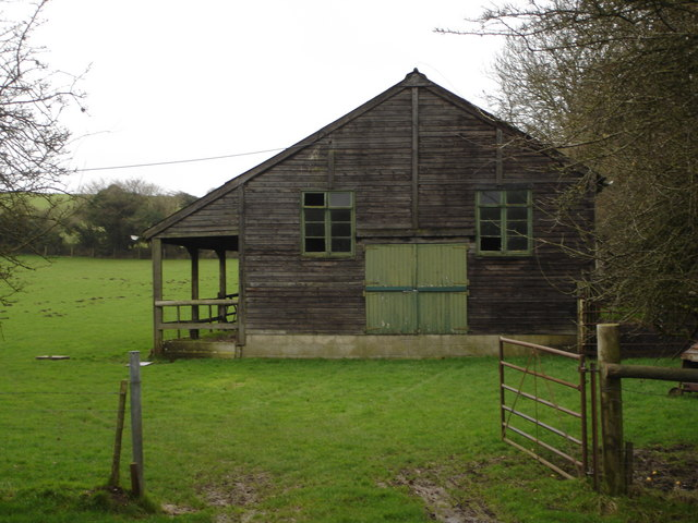 Wooden building in Tarrant Gunville