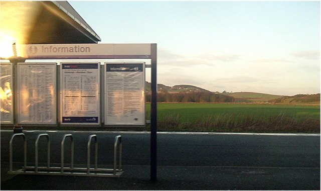View from train in Leuchars station
