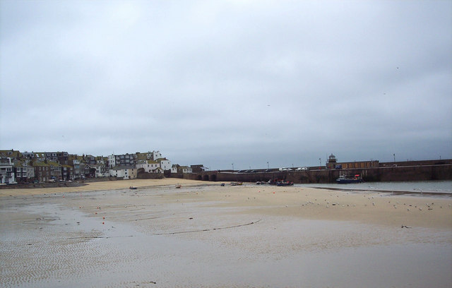 St Ives Harbour with the Tide Out