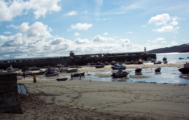 Stranded Boats at Low Tide
