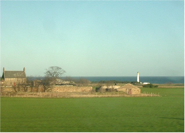Barns Ness lighthouse.