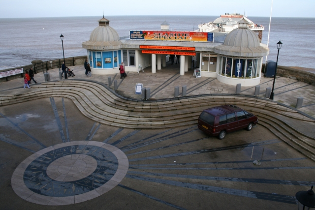 Cromer Pier and compass feature