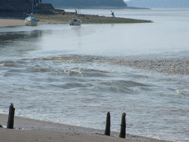 Arnside Beach - tide coming in