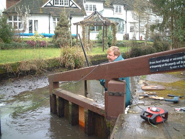 Repair work on the smallest lock - Abbotsbrook Estate