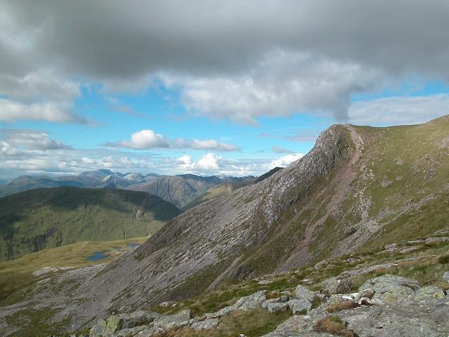 Crag on NW shoulder of Beinn Fhionnlaidh