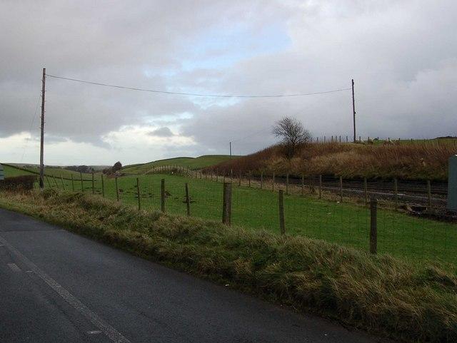 Newcastle Carlisle railway line near Gilsland