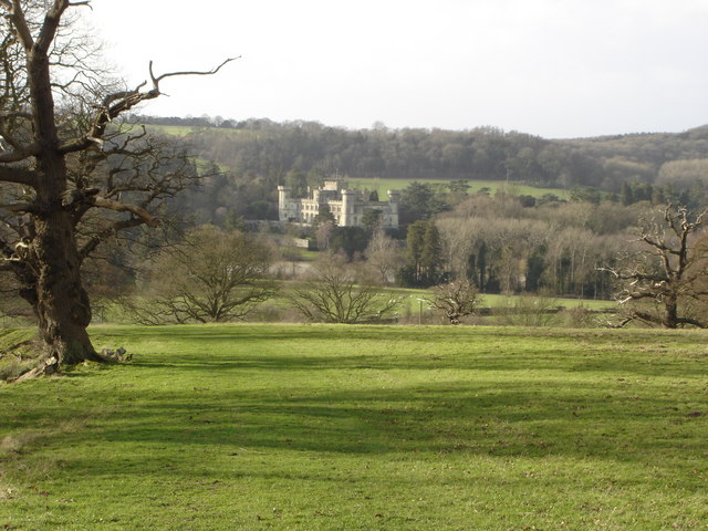 Eastnor Castle viewed from Eastnor Park