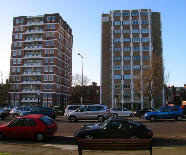 Victoria Court and Warnham Court, Grand Avenue