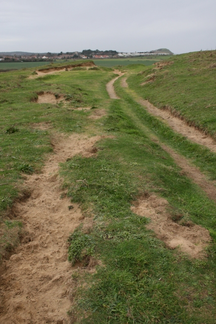 Sandy path, East Runton