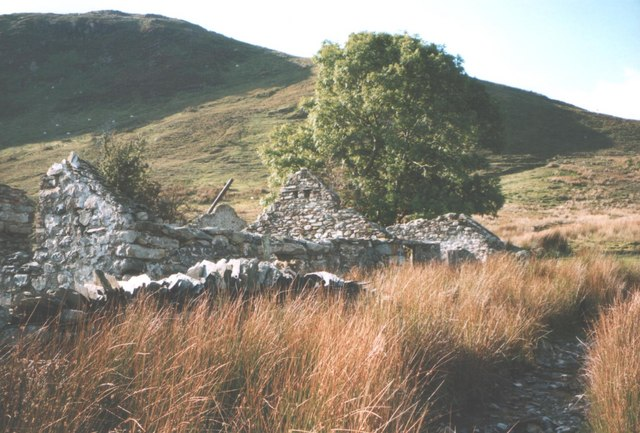 The ruins of Brithdir - a former smallholding above Llanberis