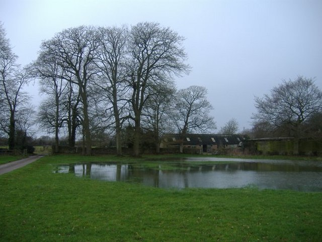 A flooded field near Lawn farm