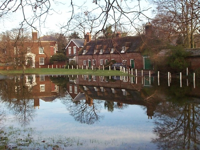 Littlebourne village green -not a pond but floodwater.