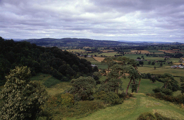 North from Montgomery Castle