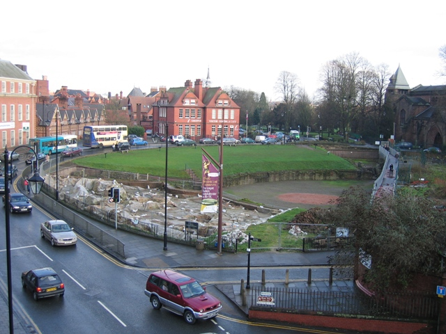 The Roman Amphitheatre from the Newgate, Chester