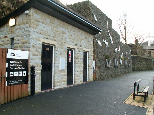 Todmorden Service Station, Rochdale Canal