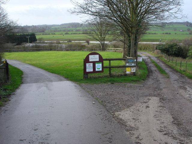 Entrance to Dawley's Caravan Site