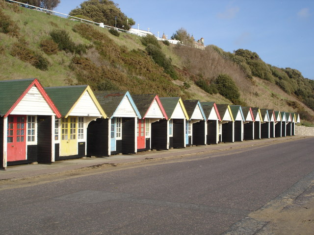Beach Huts on Bournemouth Beach