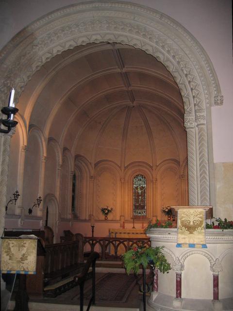 Interior of Batsford Church