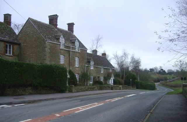 Main road at Long Newnton