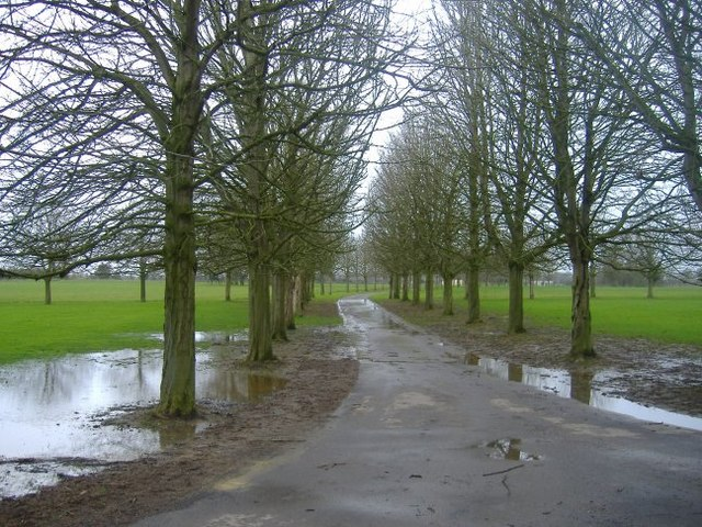 The driveway to Cole Park