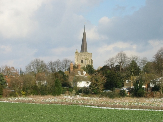 Wingham church from A257
