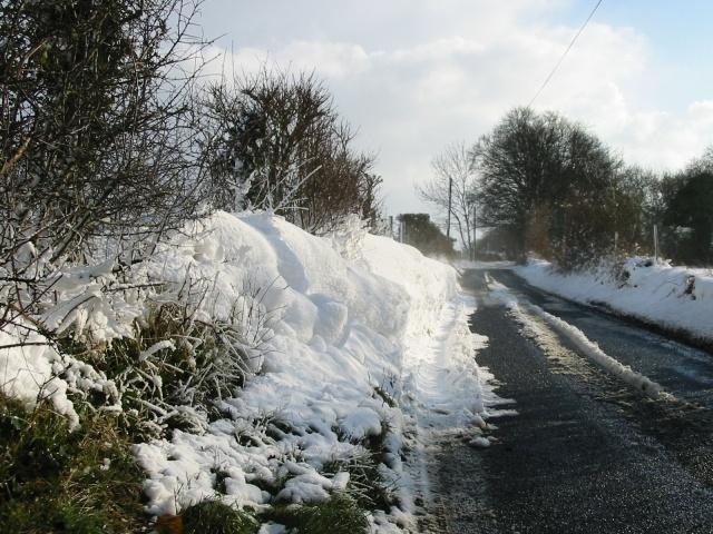 Snow drift on the Brambling road.