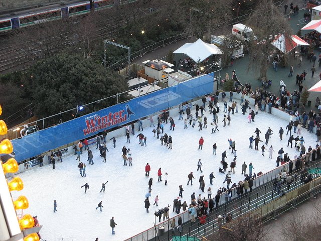 Ice rink, Princes Street Gardens