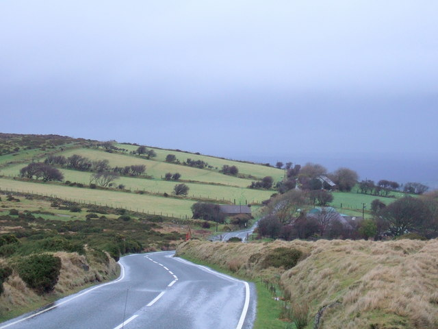 Tafarn y bwlch on the edge of the moorland