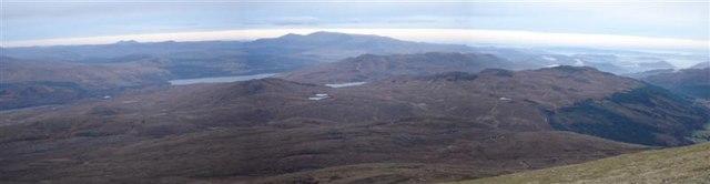 Panorama from Sgurr a'Mhuilinn
