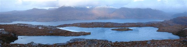 Panorama from Beinn Shieldaig