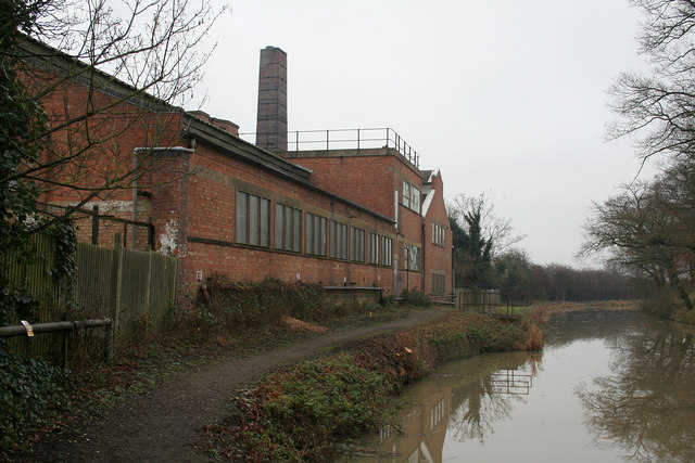 Grand Union Canal and factory