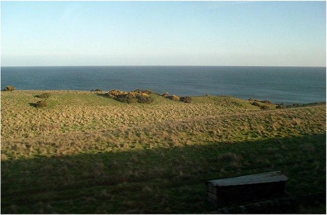 The North Sea coast at Lamberton