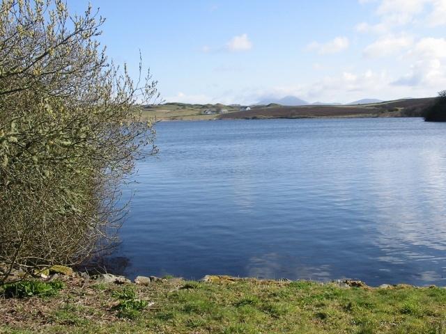 Looking East across Loch Skerrols to Octovullin