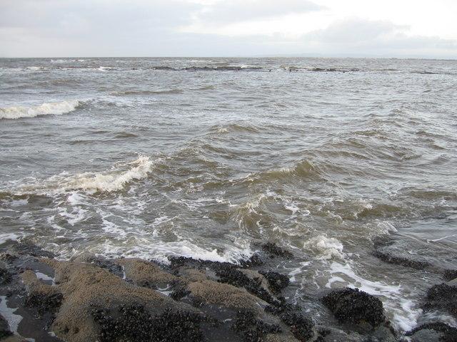 Rocks off Prestwick Beach