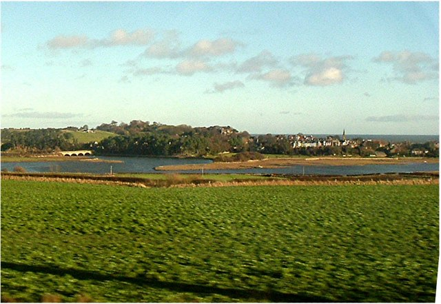 View over the A1098 towards Alnmouth