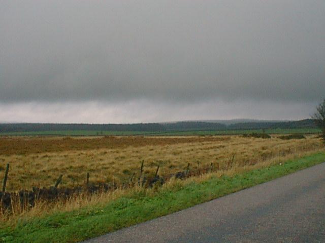 Rain Across Matlock Moor Towards Farley Moor